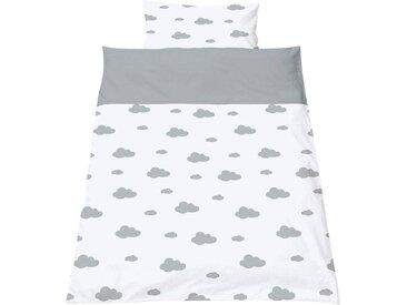 Pinolino® Babybettwäsche »Wölkchen«, mit niedlichen Wolken, weiß, grau