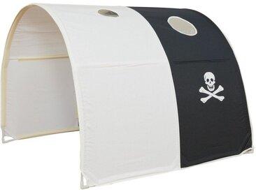 Homestyle4u Betttunnel, Tunnel Zelt Bettzelt Bettdach Spieltunnel, weiß, schwarz-weiß