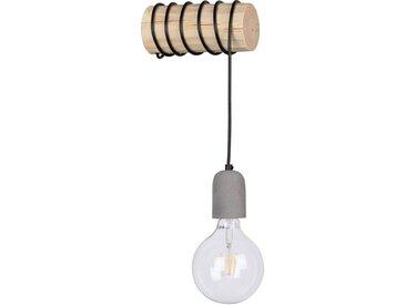 SPOT Light Wandleuchte »TRABO CONCRETE«, Holzbalken aus massivem Kiefernholz Ø 8-12 cm, aus echtem Beton - handgefertigt, Passende LM E27/exklusive