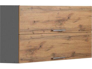 HELD MÖBEL Klapphängeschrank »Colmar« 100 cm, mit Metallgriff, für viel Stauraum, natur, wotaneiche/grafitgrau