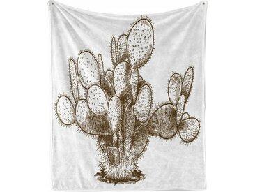 Abakuhaus Foulard »Gemütlicher Plüsch für den Innen- und Außenbereich«, Kaktus Hand Drawn Sketchy Pflanze