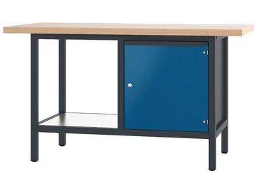 PADOR Werkbank »21 S 04«, blau, 85.5 cm, anthrazit/blau