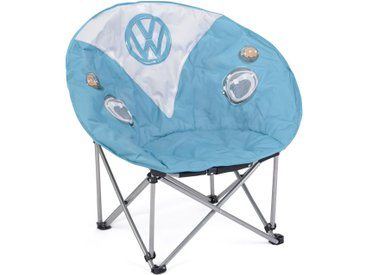 VW Collection by BRISA Campingstuhl »VW T1 Bulli Front Motiv« Inklusive Tragetasche, blau, Blau