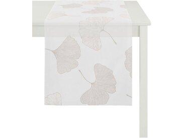 APELT Tischläufer »Gala, Loft Style« (1-tlg), Ausbrenner, weiß, creme