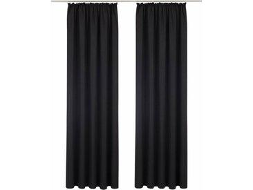 Bruno Banani Vorhang »Lagan«, Kräuselband (2 Stück), schwarz, schwarz