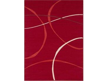 my home Teppich »Giles«, rechteckig, Höhe 8 mm, Kurzflor, rot, rot