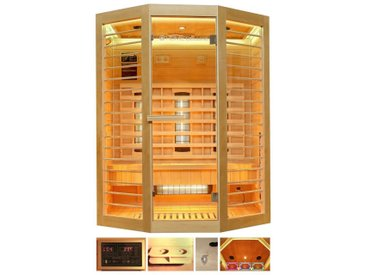 HOME DELUXE Infrarotkabine »Redsun XL Deluxe«, 155x120x190 cm, natur, natur