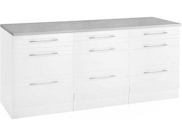 HELD MÖBEL Unterschrank »Mito« Breite 180 cm, weiß, Weiß/schieferweiß
