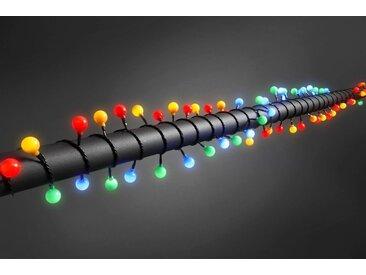 KONSTSMIDE LED Globelichterkette, schwarz, Lichtquelle bunt, Schwarz