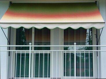 Angerer Freizeitmöbel Klemmmarkise grün/rot/gelb, Ausfall: 150 cm, versch. Breiten