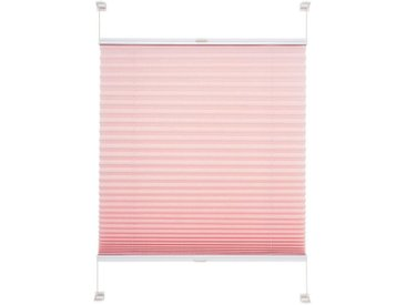 Liedeco Plissee »Pastell«, Lichtschutz, ohne Bohren, verspannt, Klemmfix-Plissee, Pastell, rosa, rosa