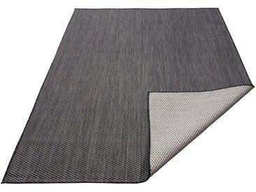 my home Teppich »Rhodos«, rechteckig, Höhe 3 mm, In- und Outdoor geeignet, Sisaloptik, schwarz, schwarz