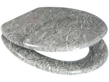 ADOB WC-Sitz »Granit«, mit messingverchromten Scharnieren