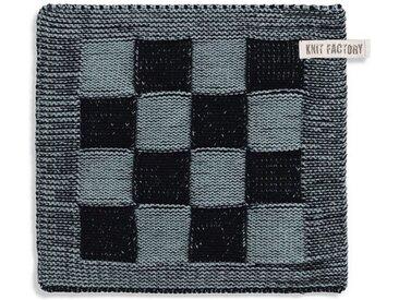 Knit Factory Tischdecke »Topflappen Block Schwarz/Stone«