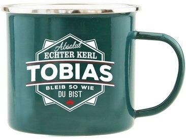 HTI-Living Becher »Echter Kerl Emaille Becher Tobias«