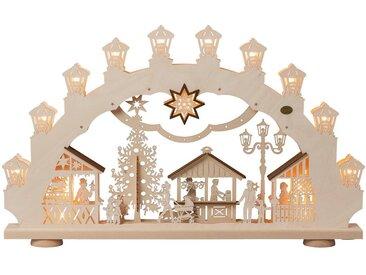 SAICO Original 3D-Lichterbogen Weihnachtsmarkt, 15flammig elektrisch beleuchtet, natur, Natur