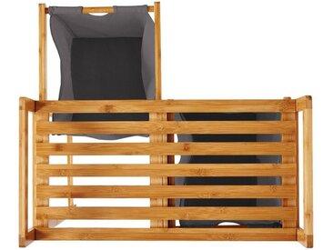 Lumaland Ausziehwäschekorb » Wäschekorb aus Bambus, mit 2 auszieh...«, grau, dunkelgrau