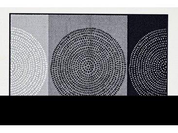 Fußmatte , waschbar, schwarz, schwarz/weiß