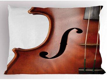 Abakuhaus Kissenbezug »Dekorativer Standard King Size Gedruckter Kissenbezug,«, Cello Makro Instrument Fotografie