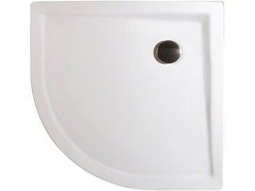 Schulte Duschwanne, rund, Mineralguss, extra flach, 90 x 90 cm, Verstellbereich Füße 90-120 mm