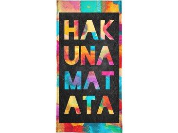 Juniqe Strandtuch »Hakuna Matata 1« (1-St), Weiche Frottee-Veloursqualität