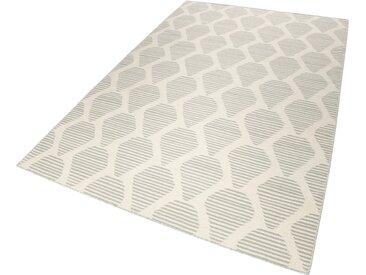 Esprit Wollteppich »Rainns Kelim«, rechteckig, Höhe 4 mm, natur, grau-beige