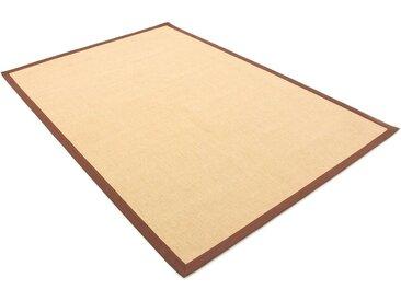 carpetfine Sisalteppich »Sisal«, rechteckig, Höhe 5 mm, braun, braun