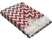 """STTS Wolldecke »Wohndecke Wolldecke Plaid """"TIROL-Zick-Zack"""" aus 100% Schurwolle 140 x 200 cm in vielen Farben erhältlich«, rot, Rot-Grau"""