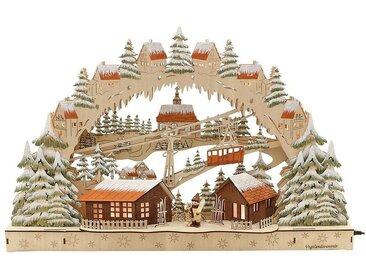 SIGRO Holz Schwibbogen »Skifahrer«, natur, Natur