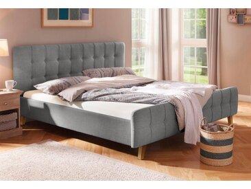 Home affaire Polsterbett »Larvik«, mit aufwendiger Knopfheftung in 3 Größen und je 3 Farben, grau, grau