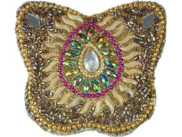 Guru-Shop Aufbewahrungsdose »Indisches Schmuckdöschen, Perlendöschen,..«, gold-mehrfarbig
