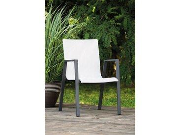 Greemotion Stapelstuhl »Jarvi« Aluminium, stapelbar, weiß