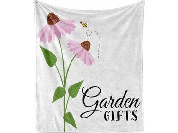 Abakuhaus Foulard »Gemütlicher Plüsch für den Innen- und Außenbereich«, Sonnenhut Blumen Szene Bee Fliegen