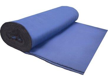 Home Basics Vorhang nach Maß »BLACKY SCHWERENTFLAMMBAR«, (1 Stück), Schwerentflammbarer Verdunklungsstoff!, blau, blau