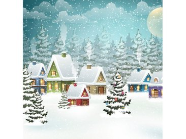Paper+Design Papierserviette »Dorf im Schnee«, (5 St), 33 cm x 33 cm, 5 St.