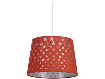 relaxdays Hängeleuchte »Kinderzimmerlampe Sternmotiv«, rot, Rot