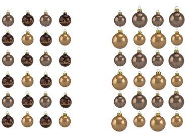 Thüringer Glasdesign Weihnachtsbaumkugel »Cappuccino« (50 Stück), Made in Germany