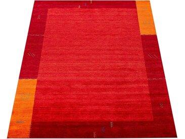 Paco Home Teppich »Gabbeh 309«, rechteckig, Höhe 14 mm, handgefertigter Kurzflor, Gabbeh-Stil, braun, terrakotta
