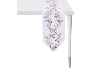 APELT Tischband »6907 HAPPY EASTER« (1-tlg), Digitaldruck, rosa, weiß-flieder-rosa-grün