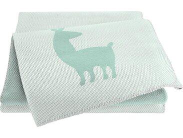 BIEDERLACK Babydecke »Alpaca«, grün, grün
