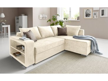 COLLECTION AB Ecksofa, inklusive Bettfunktion und Bettkasten, natur, ohne Federkern, natur