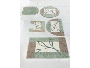 Grund Badgarnitur mit Blätter Design, grün, grün