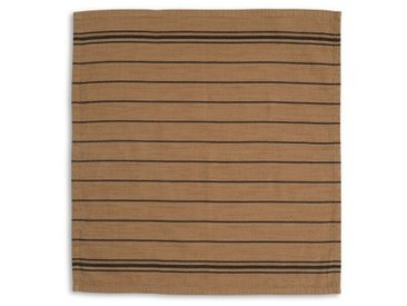 Lexington Stoffserviette, »Striped«, braun, beige