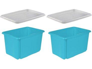 keeeper Stapelbox »emil« (Set, 2 Stück), blau, blau