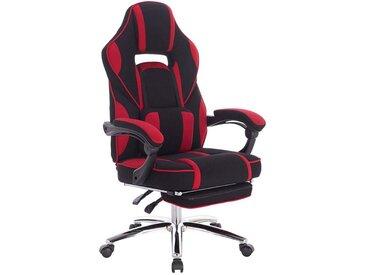 Woltu Gaming-Stuhl Gaming Stuhl Bürostuhl Stoffbezug höhenverstellbar, rot, rot
