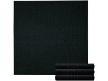 Lashuma Handtuch Set »Pure« (Set, 4-tlg), Geschirrtuch 4er Set, Küchentücher Waffelpique 50 x 50 cm, schwarz, schwarz