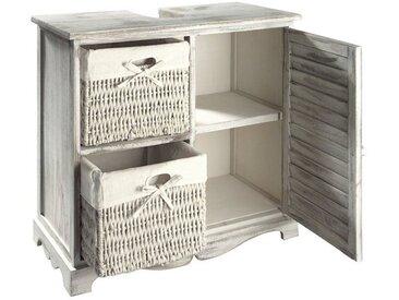 heine home Waschbeckenunterschrank inklusive Körbe inklusive Körbe inklusive Körbe, weiß, ca. 60/65/30 cm, weiß