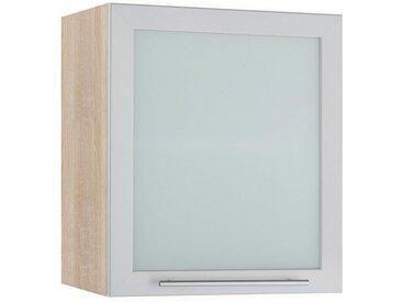 wiho Küchen Glashängeschrank »Flexi2« Breite 50 cm, grau, alufarben/eichefarben
