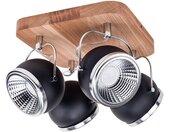 SPOT Light Deckenleuchten »Ball Wood«, Inklusive LED-Leuchtmittel, Naturprodukt aus Eichenholz, Schwenkbare und flexible Spots, Nachhaltig mit FSC®-Zertifikat