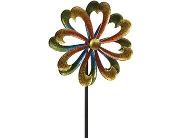 Dehner Gartenstecker »Riesen-Windrad Blume, 142 x 40 x 39.8 cm, Metall«